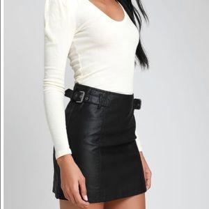 NWT Free People Vegan Black Leather Skirt